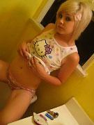 Kinky teen slut Amber sucking and fucking her man's cock